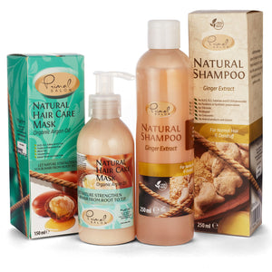 Natural Ginger Shampoo and Argan Hair Conditioner Set