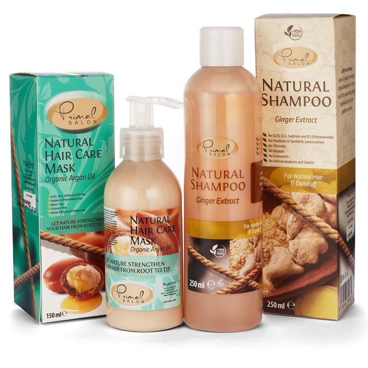 Natural Ginger Shampoo and Argan Hair Conditioner giftset