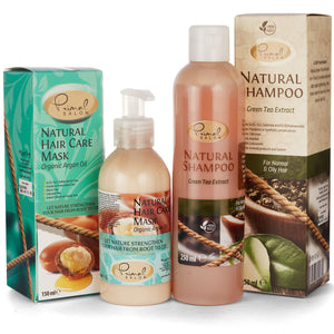 Natural Green Tea Shampoo and Argan Hair Conditioner giftset