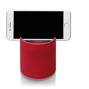 Bluetooth Speaker with Mobile Stand FM USB TF Slot for Android,Laptops & PC's (Red)