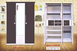 Kuber 3 DOOR Cap Steel Cupboard