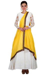 Cotton Silk Embroidery Semi-stitched Anarkali Salwar Suit