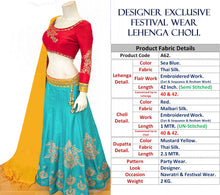 Load image into Gallery viewer, Designer Exclusive Festival Wear Lehenga Choli