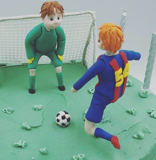 Handmade Sugar Football Figures