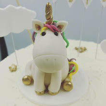 Load image into Gallery viewer, Buttercream Cake with Unicorn Topper - Cheltenham Birthday Cakes
