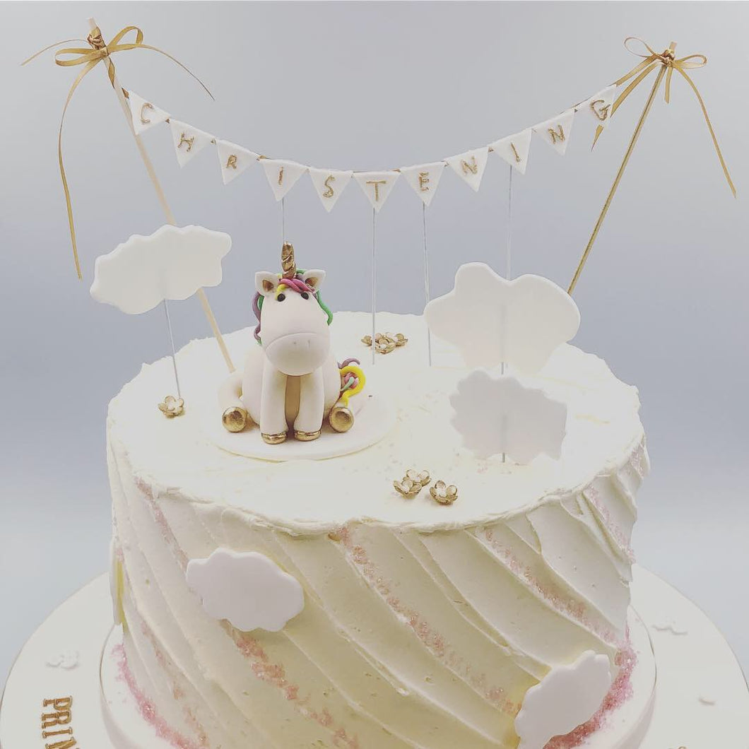 Buttercream Cake with Unicorn Topper - Cheltenham Birthday Cakes