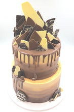 Load image into Gallery viewer, Two Tier Ombre Chocolate Cake