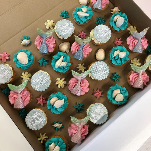 Mermaid Swirl Fairy Size Cupcakes