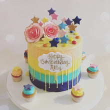 Load image into Gallery viewer, Colourful Buttercream Cake - Vanilla Pod Bakery Birthday Cakes