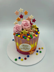 Colourful Buttercream Cake - Vanilla Pod Bakery Birthday Cakes