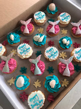 Load image into Gallery viewer, Mermaid Swirl Fairy Size Cupcakes