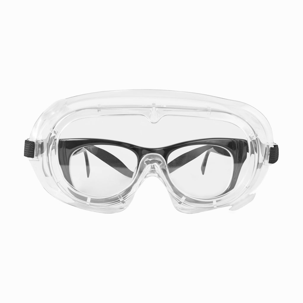 Protective Goggles with Indirect Ventilation - Front with Prescriptive Eyewear
