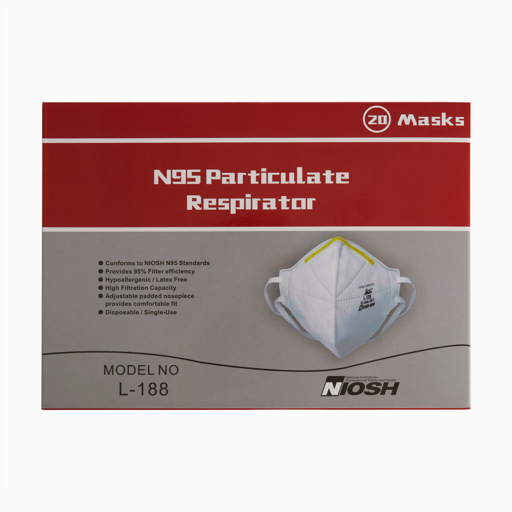Harley NIOSH Certified N95 Respirator Face Mask Packaging - Front