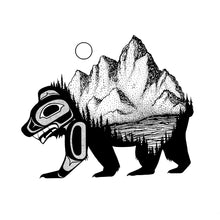 Load image into Gallery viewer, Bear & Mountain Art Print