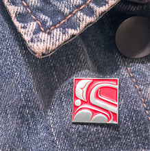Load image into Gallery viewer, Silver Eagle Head Enamel Pin