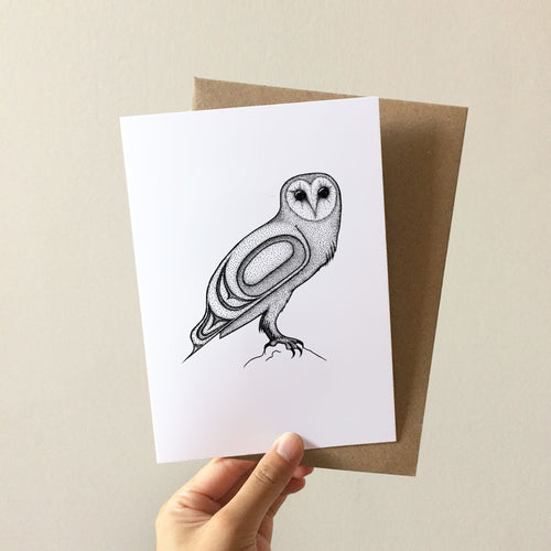 Barn Owl Greeting Card