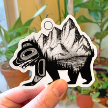 Load image into Gallery viewer, Bear & Mountain Vinyl Sticker