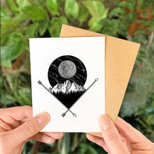 Load image into Gallery viewer, Full Moon & Mountains Greeting Card