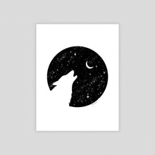 Load image into Gallery viewer, Howling Wolf Art Print