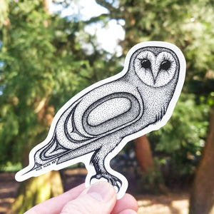 Barn Owl Vinyl Sticker