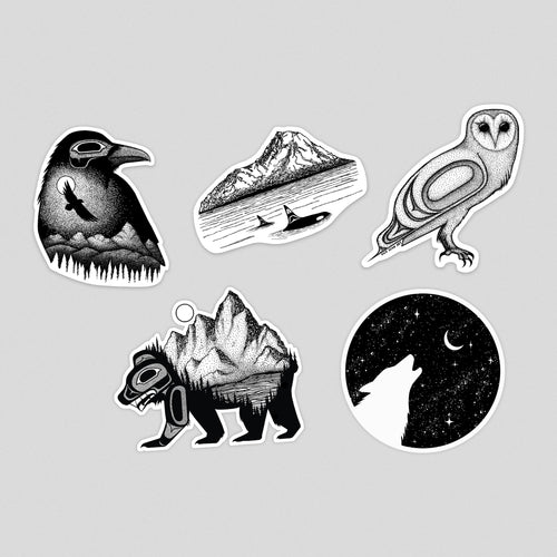 PNW Animal Sticker Set