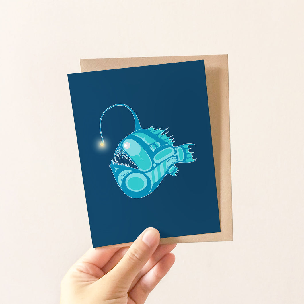 Angler Fish Greeting Card