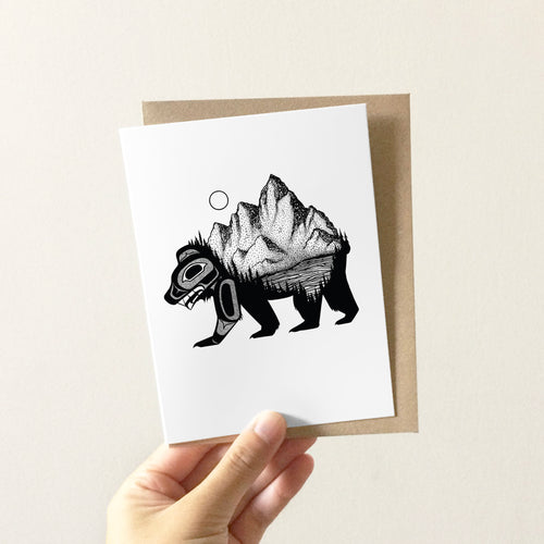 Bear & Mountain Greeting Card