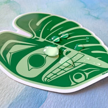 Load image into Gallery viewer, Monstera Wolf Vinyl Sticker