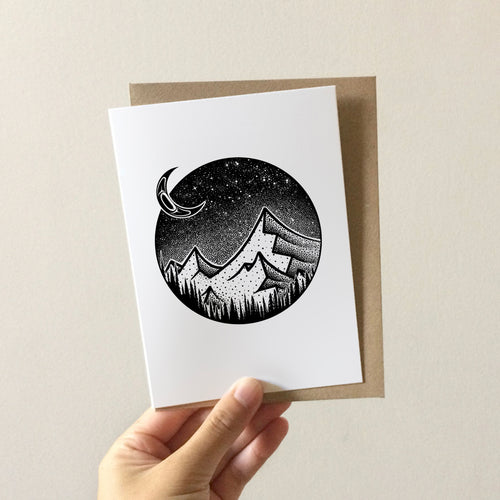 Tlingit Moon Greeting Card