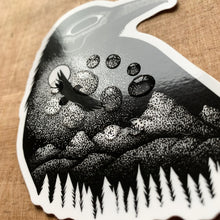 Load image into Gallery viewer, Moonlight Raven Vinyl Sticker