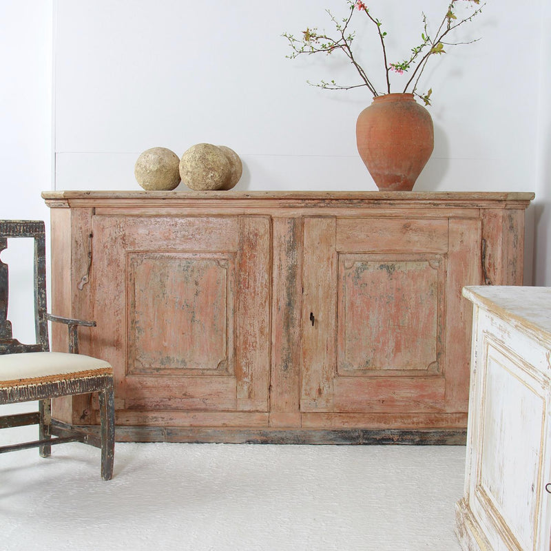 Exceptional French  18th Century Provincial Painted Buffet