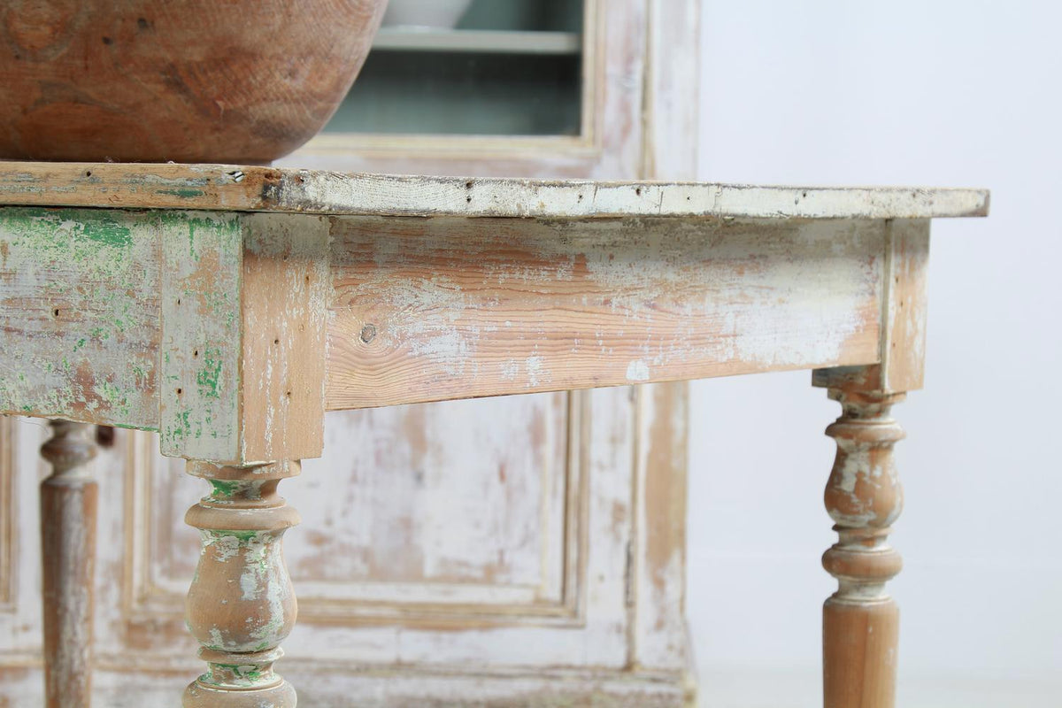 French 19thC Drapers Table with Original Patina