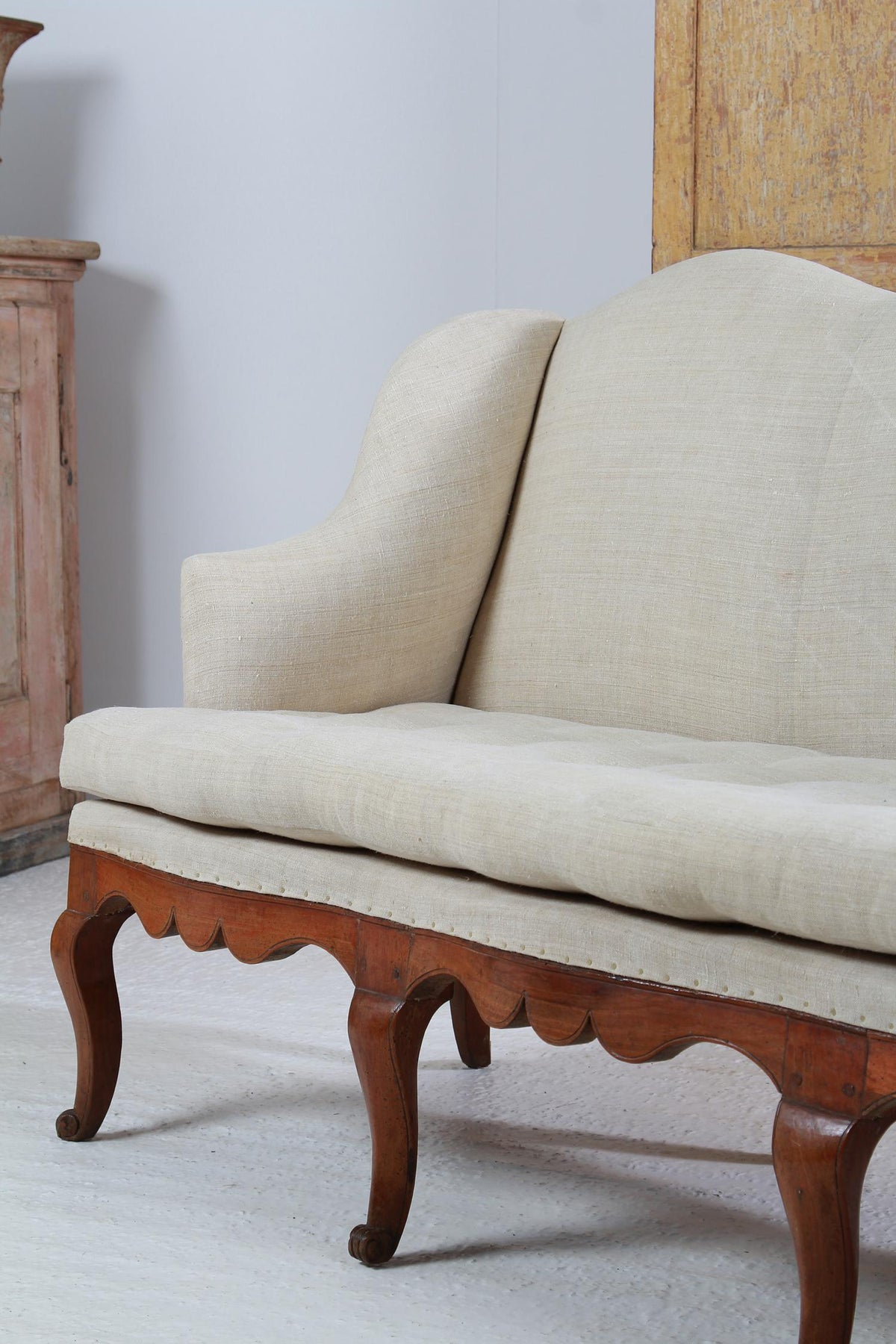 Exquisite Louis XIV Period French 18thC  Walnut Sofa