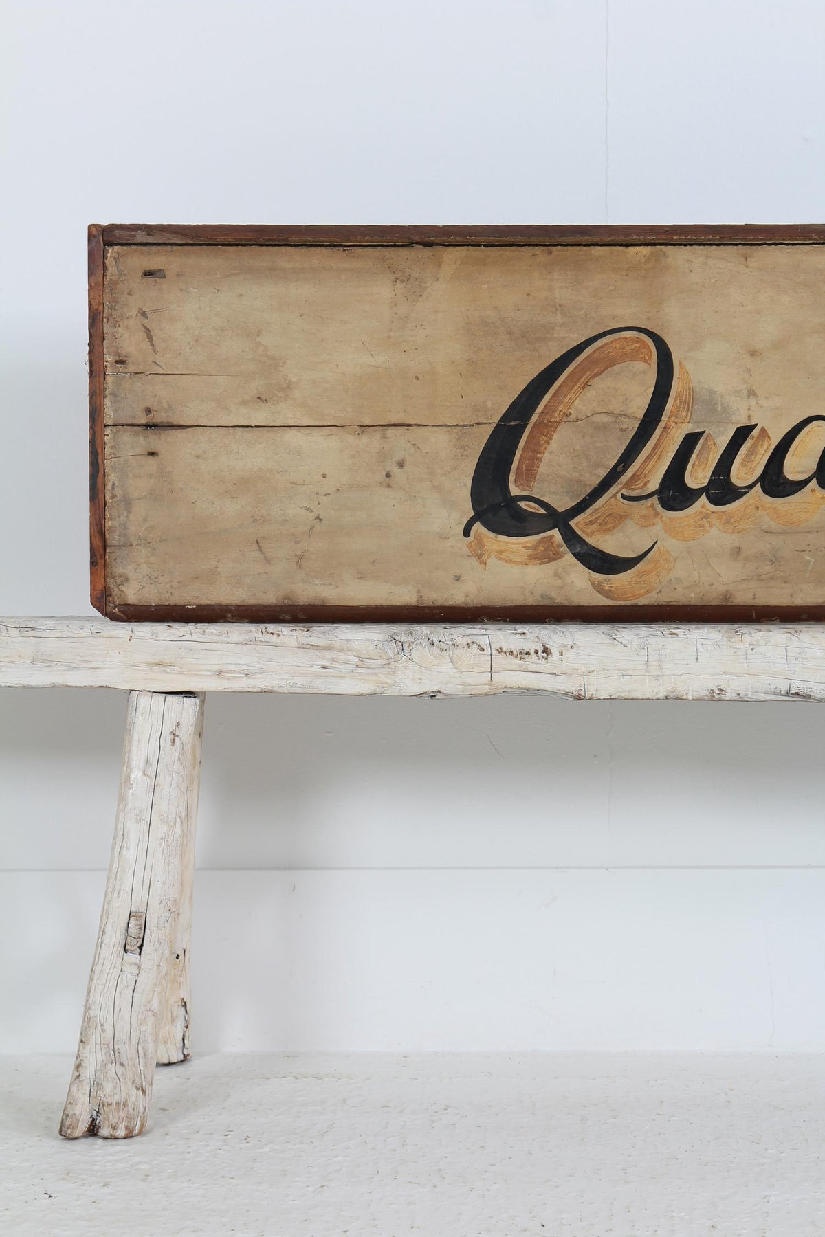 Fabulous English Hand Painted  Shop Sign Fragment