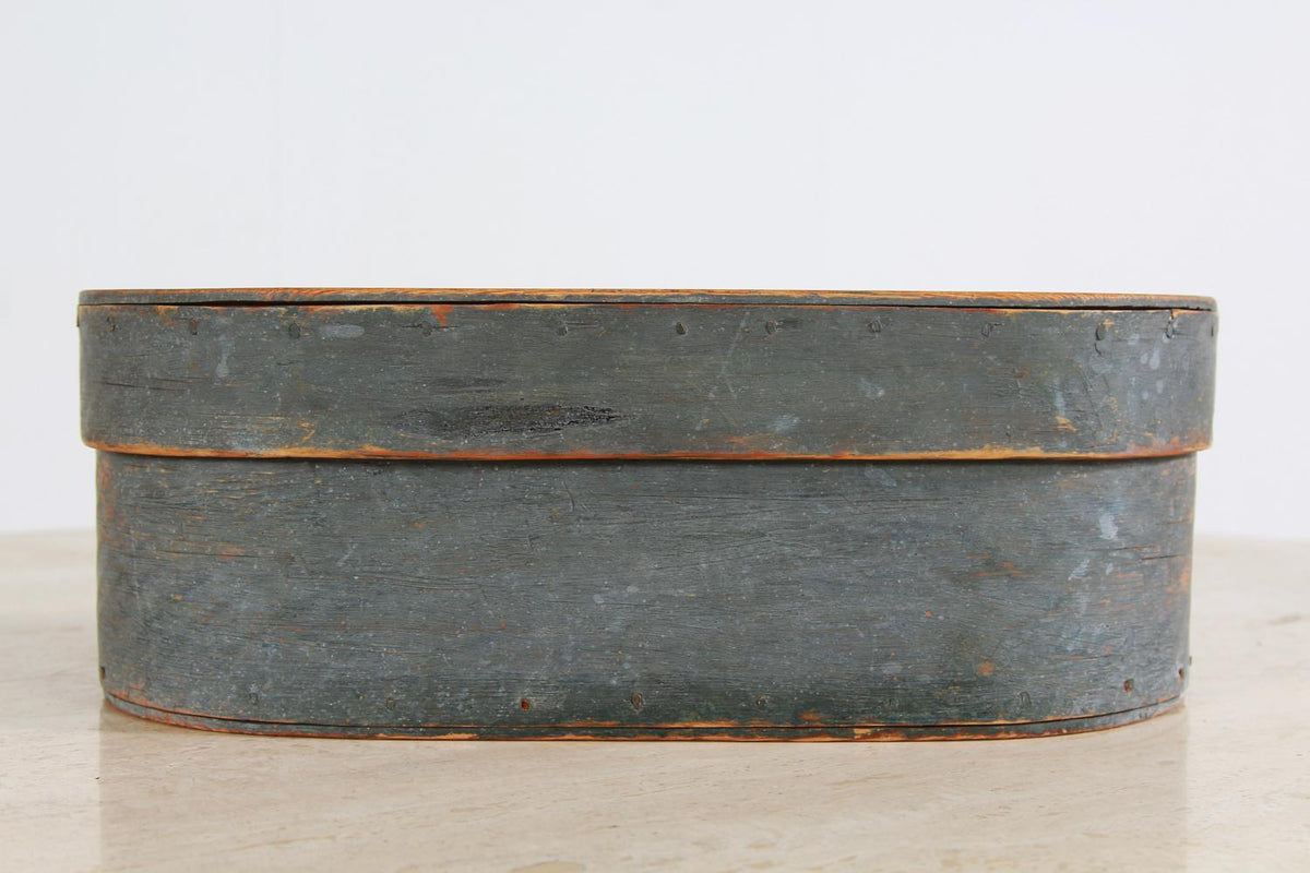 Swedish 18th Century Folk Art Painted Bentwood Box