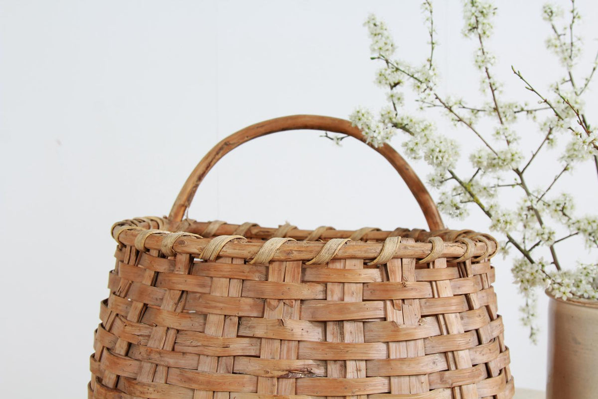Swedish 19thC  Woven Folk Art Basket