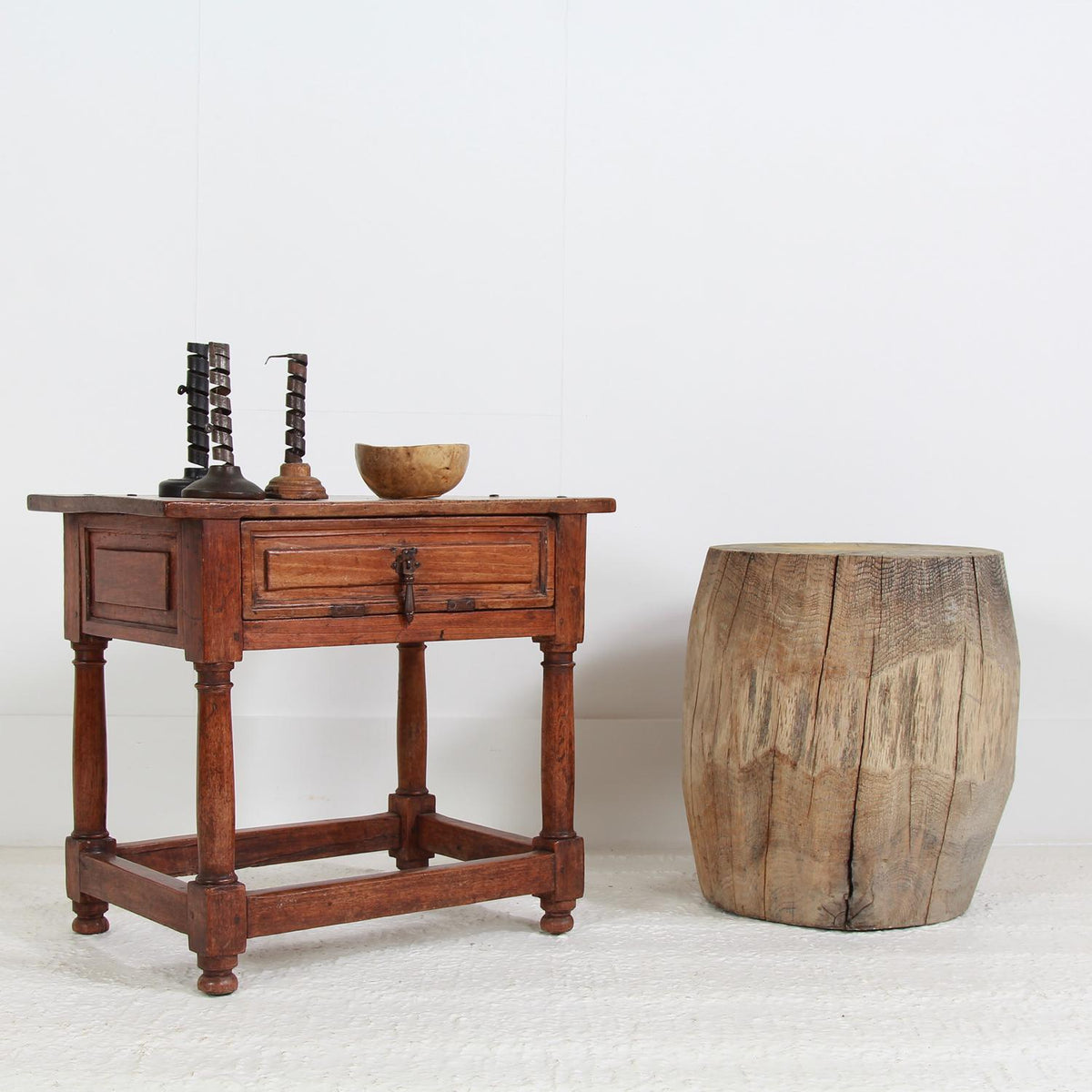 Original Spanish Late  18th Century Walnut Side Table