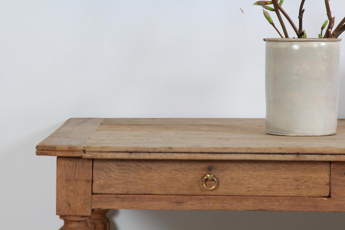 French 19th Century Oak Draper/Console Table