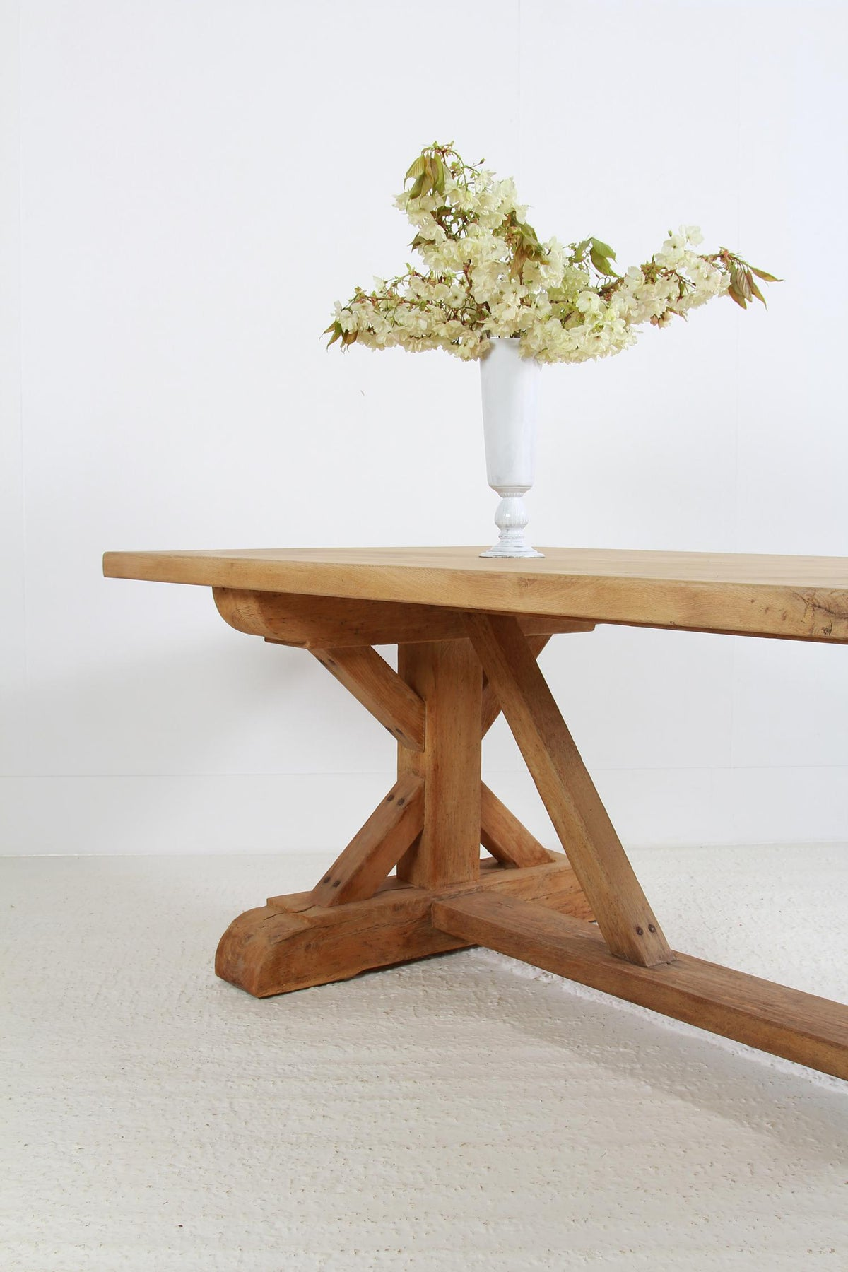 Bespoke Belgian Natural Oak X Frame Dining Table