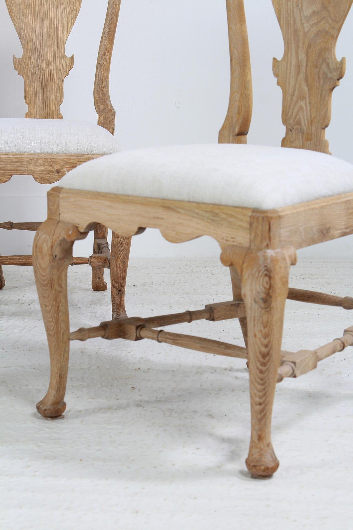 Striking Set of Six Swedish Gustavian Period Dining Chairs