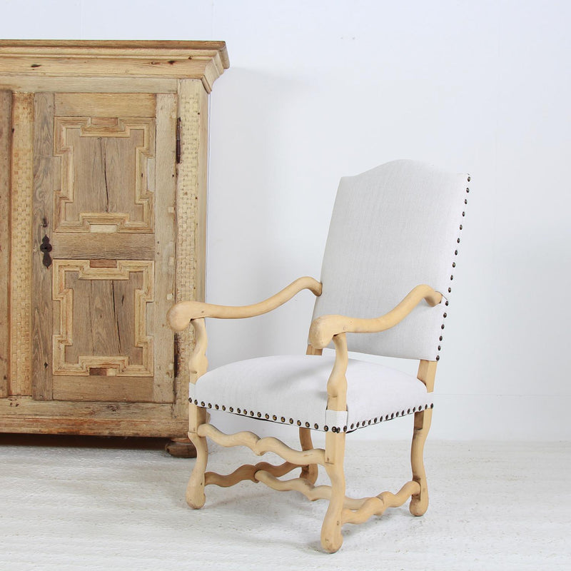 Grand French OS DE MOUTON ARMCHAIR IN Bleached Oak