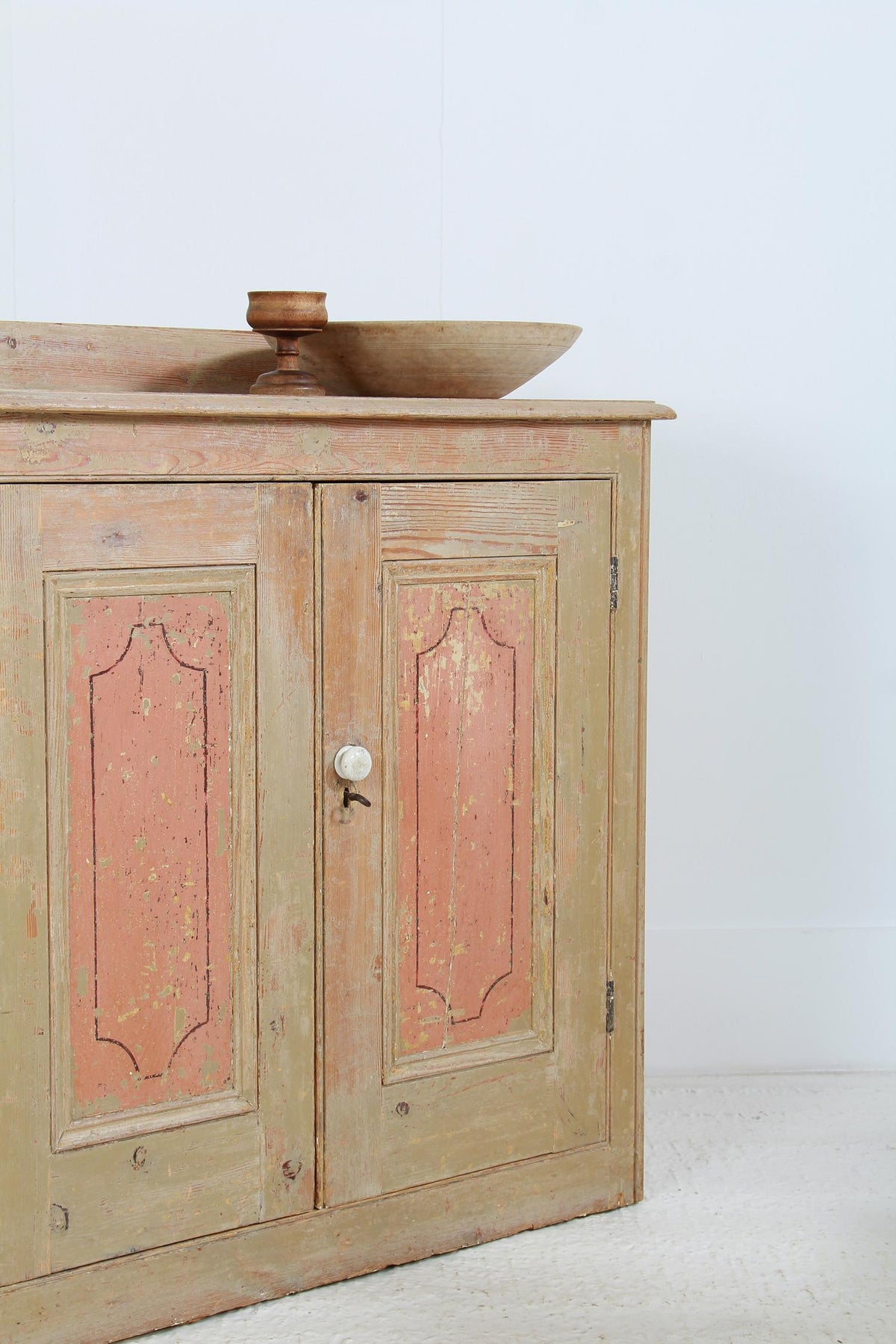 Original English 19thC Country House Cupboard