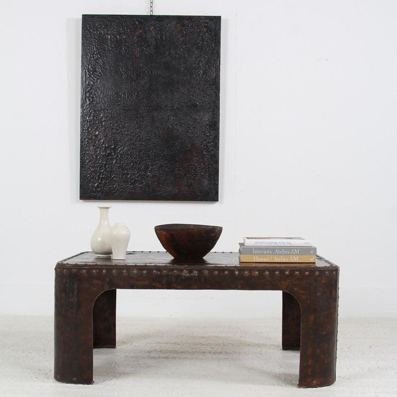 Industrial Riveted Metal Coffee Table