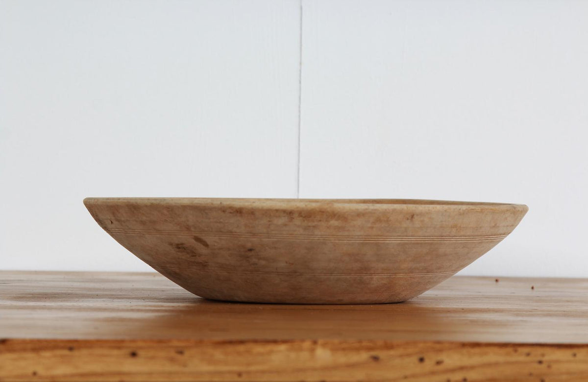 Beautiful Swedish 19thC Hand Carved Root Bowl