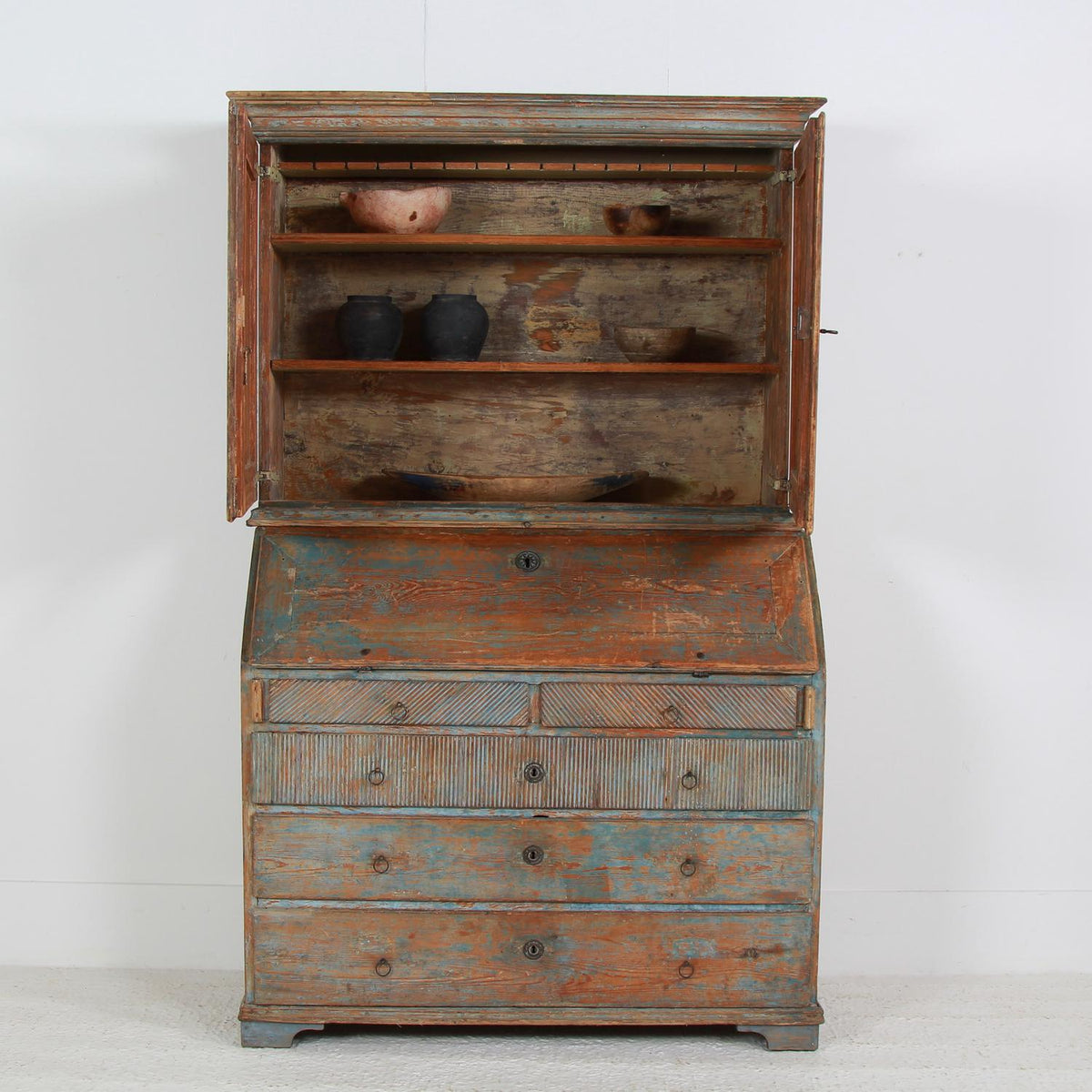 Swedish  Period  19thC Gustavian Painted Secretaire