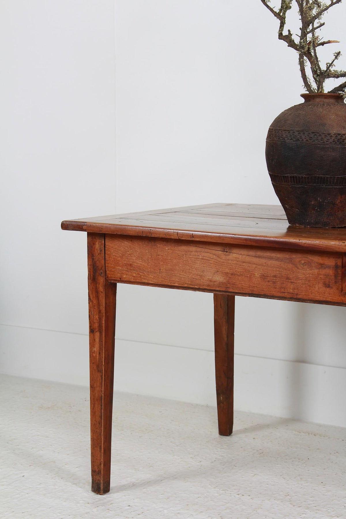 Antique French 19thC Fruitwood Farmhouse Table