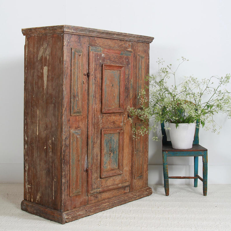 Exquisite 18thC Swedish Period Baroque Cabinet with Raised Panels