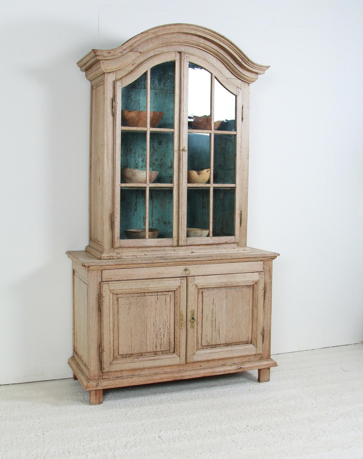 Dutch 18thC  Oak Glazed Vitrine