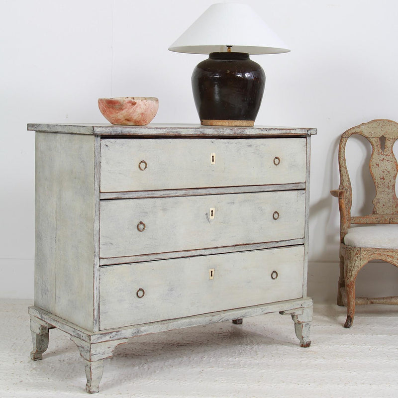 Elegant Swedish 20thC Painted Scandinavian Chest of Drawers