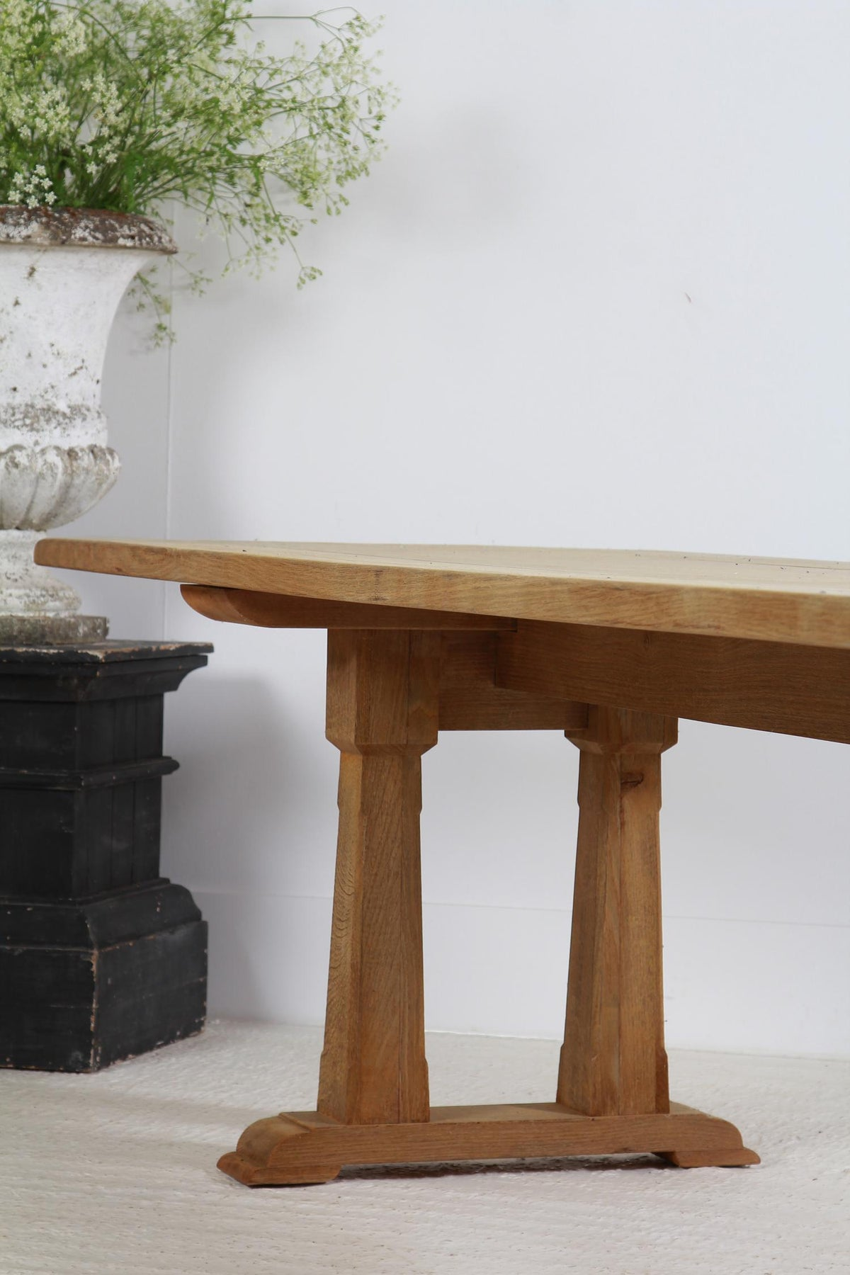 Enormous French Bleached Oak Community Dining Table